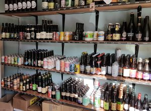 Some of the bottles on offer at Champion Bottles and Taps